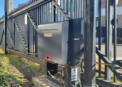 commercial automated gate operator installed in Dallas Texas